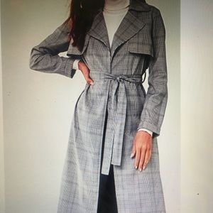 FOREVER21 new with tags plaid belted wrap coat.